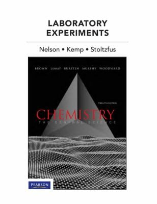 Laboratory Experiments for Chemistry: The Central Science 9780321705020