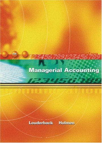 Managerial Accounting 9780324118636