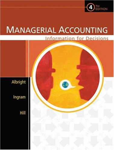 Managerial Accounting: Information for Decisions [With CDROM] 9780324222432