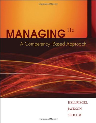 Managing: A Competency-Based Approach 9780324421408