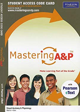 Mastering A&P for Visual Anatomy & Physiology with Pearson eText Student Access Code Card 9780321717443