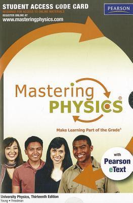 MasteringPhysics University Physics Standalone Student Access Code Card 9780321741257