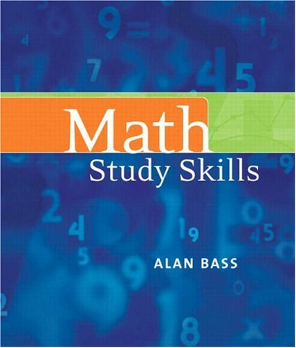 Math Study Skills 9780321513076