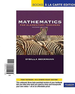 Mathematics for Elementary Teachers [With Activities Manual] 9780321645807