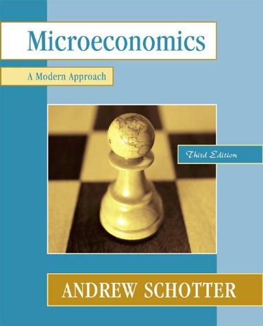 Microeconomics: A Modern Approach 9780321077479