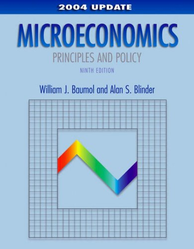 Microeconomics: Principles and Policy, 2004 Update 9780324201642
