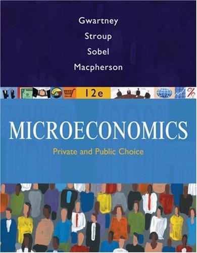 Microeconomics: Private and Public Choice 9780324580204