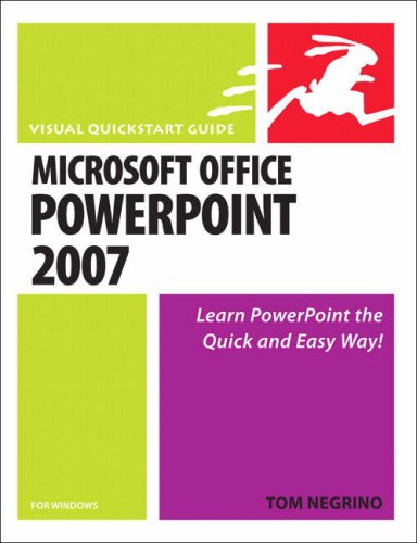 Microsoft Office PowerPoint 2007 for Windows: Visual QuickStart Guide 9780321498403
