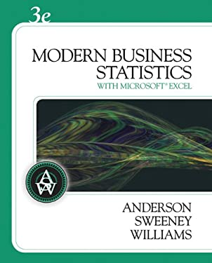 Modern Business Statistics: With Microsoft Office Excel [With CDROM] 9780324598278