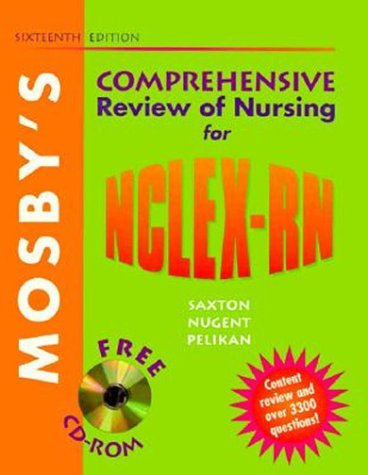 Mosby's Comprehensive Review of Nursing for NCLEX-RN (Book for Windows & Macintosh) [With *] 9780323002868