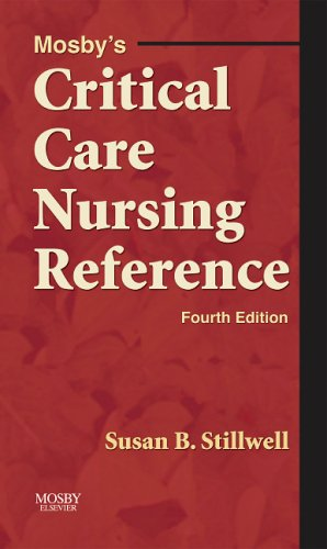Mosby's Critical Care Nursing Reference 9780323032148