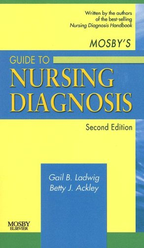 Mosby's Guide to Nursing Diagnosis 9780323051927