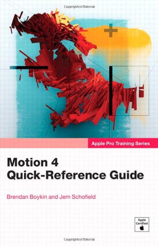Motion 4 Quick-Reference Guide 9780321636775