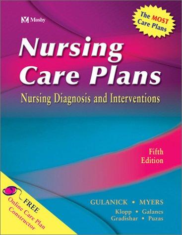 Nursing Care Plans: Nursing Diagnosis and Intervention 9780323016278