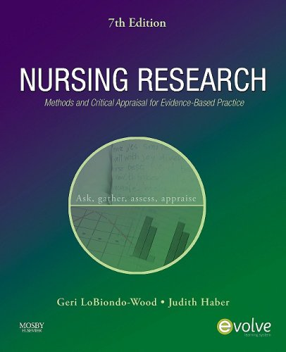 Nursing Research: Methods and Critical Appraisal for Evidence-Based Practice 9780323057431