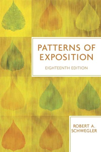 Patterns of Exposition 9780321409218