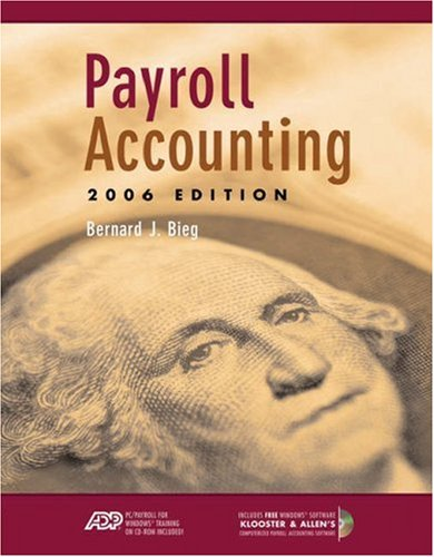 Payroll Accounting [With 2 CDROMs] 9780324313093