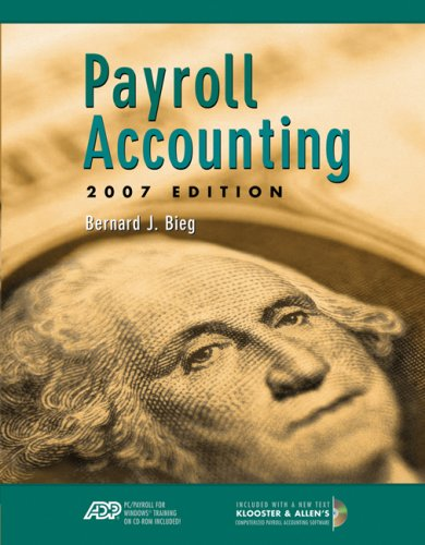 Payroll Accounting [With 2 CDROMs] 9780324638240