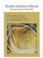 Physical Chemistry: Student Solutions Manual 9780321766687