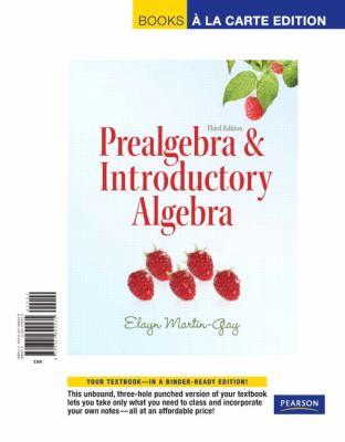 Prealgebra & Introductory Algebra, Books a la Carte Edition 9780321692535