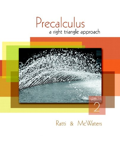 Precalculus: A Right Triangle Approach 9780321644701