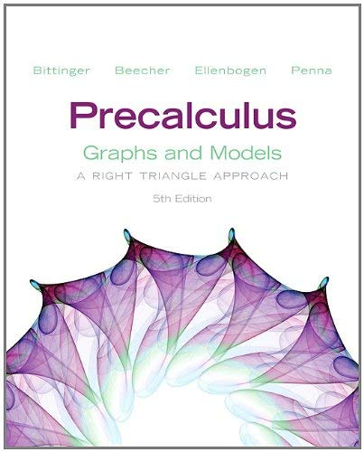 Precalculus: Graphs and Models: A Right Triangle Approach [With Access Code] 9780321795663