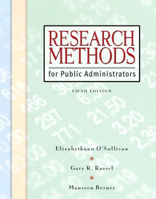 Research Methods for Public Administrators [With CDROM] 9780321431370
