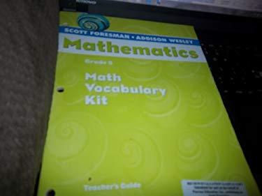 Scott Foresman Addison Wesley Math 2004 Vocabulary Kit Grade 5 9780328076642
