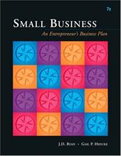 Small Business: An Entrepreneur's Business Plan 1023086