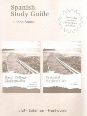 Spanish Study Guide for Basic College Mathematics 7th Ed and Essential Mathematics 2nd Ed 9780321348203