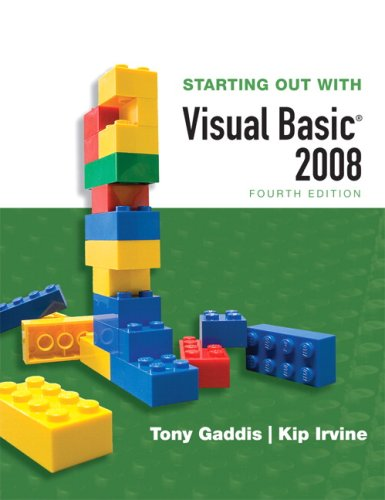 Starting Out with Visual Basic 2008 [With CDROMWith Dvdrom] 9780321531353