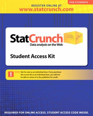 Statcrunch -- Standalone Access Card (12-Month Access) 9780321621467