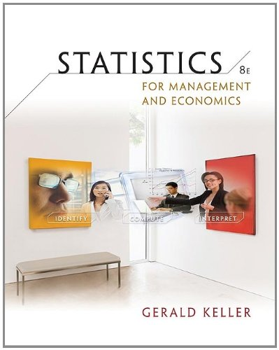 statistics for management and economics Buy statistics for management and economics 10 by gerald keller (isbn: 9781285425450) from amazon's book store everyday low prices and free delivery on eligible orders.