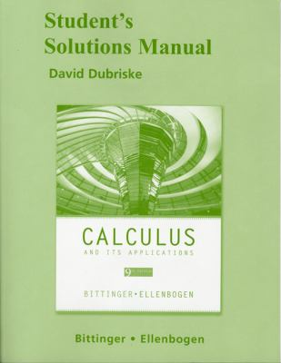 Student Solutions Manual for Calculus and Its Applications