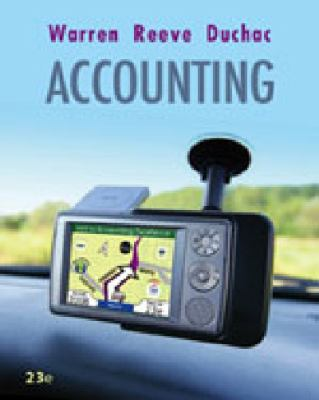 Study Guide, Chapters 1-17 for Warren/Reeve/Duchac's Accounting, 23rd and Financial Accounting, 11th 9780324664270