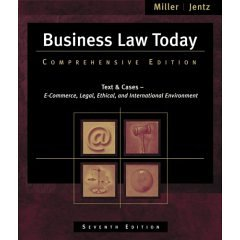 Study Guide for Miller/Jentz's Business Law Today: Comprehensive, 7th 9780324377248