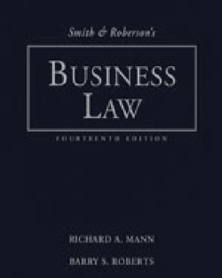 Study Guide for Smith and Roberson's Business Law, 14th 9780324655391