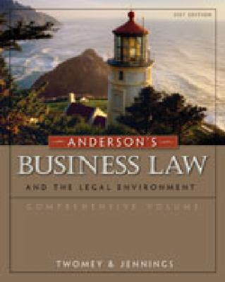 Anderson's Business Law and the Legal Environment 9780324829785