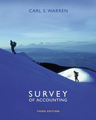 Survey of Accounting 9780324312485