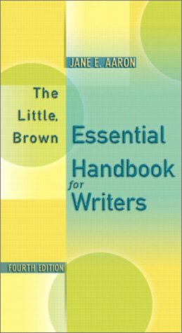 The Little, Brown Essential Handbook for Writers 9780321100450