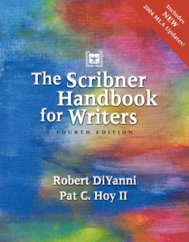 The Scribner Handbook for Writers 9780321163899