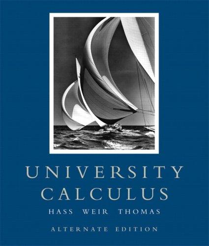 University Calculus 9780321471963
