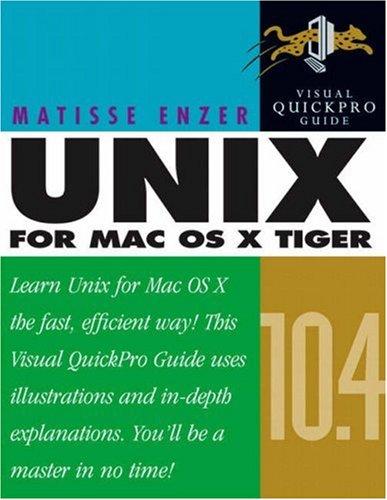 Unix for Mac OS X 10.4 Tiger 9780321246684
