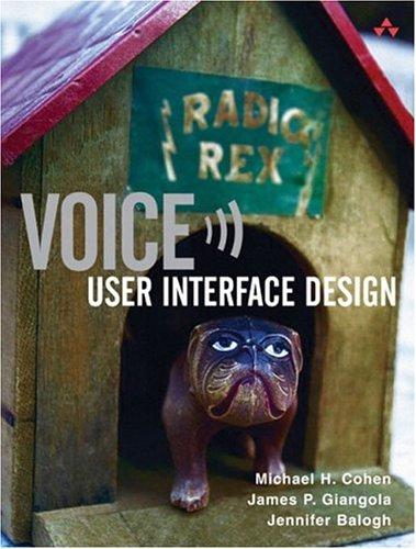 Voice User Interface Design 9780321185761