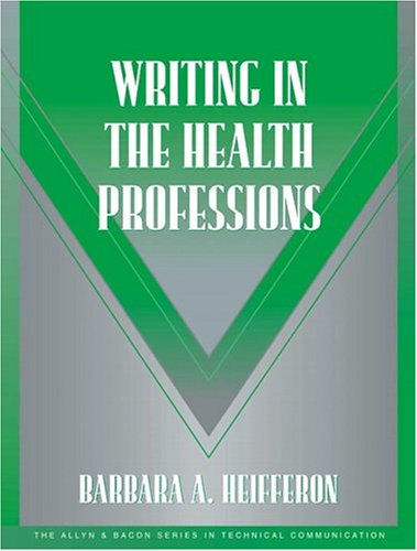Writing in the Health Professions 9780321105271