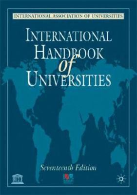 International Handbook of Universities, 17th Edition 9780333922651