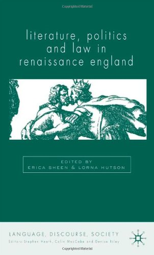 Literature, Politics and Law in Renaissance England 9780333983997