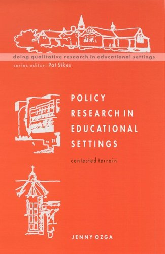 Policy Research in Educational Settings 9780335202959
