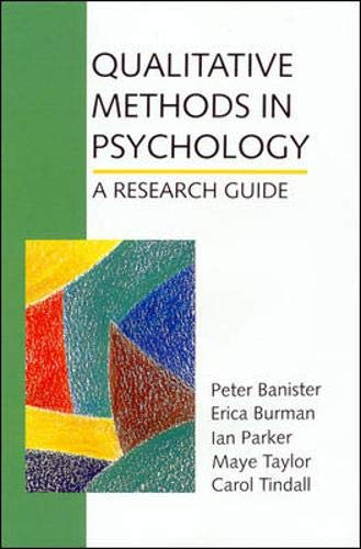 Qualitative Methods in Psychology 9780335191819