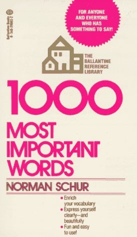 1000 Most Important Words 9780345298638